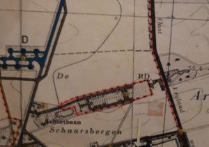 Veteranenlandgoed Vrijland - wandkaart Vliegbasis Deelen - jaren 1950